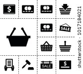 purchase icons. set of 13... | Shutterstock .eps vector #1017184021