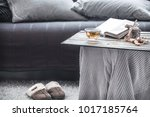 slippers in the living room by... | Shutterstock . vector #1017185764