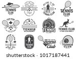 set of tennis club badges.... | Shutterstock .eps vector #1017187441