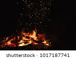 fire flames with sparks on a... | Shutterstock . vector #1017187741
