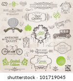 vector set  calligraphic design ... | Shutterstock .eps vector #101719045