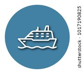 line icon of ship with shadow.... | Shutterstock .eps vector #1017190825