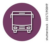 line icon of bus with shadow.... | Shutterstock .eps vector #1017190849