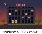 Hotel Building. Vector...