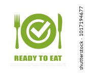 ready to eat vector icon... | Shutterstock .eps vector #1017194677