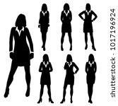 vector silhouettes women...   Shutterstock .eps vector #1017196924