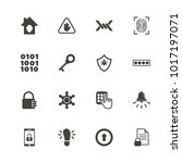 safety icons. flat simple icon  ... | Shutterstock . vector #1017197071