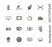 tv icons. flat simple icon  ... | Shutterstock . vector #1017197269