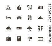 travel icons. flat simple icon  ... | Shutterstock . vector #1017197275