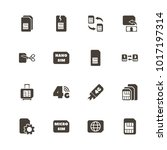 sim cards icons. flat simple... | Shutterstock . vector #1017197314