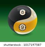 Yin Yang Billiards Balls 8 Ball ...