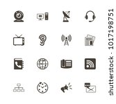 communication icons. flat... | Shutterstock . vector #1017198751