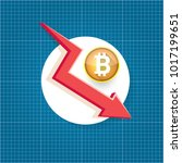 vector bitcoin market crash... | Shutterstock .eps vector #1017199651