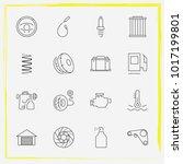 auto parts line icon set car... | Shutterstock .eps vector #1017199801