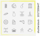 auto parts line icon set tail... | Shutterstock .eps vector #1017200647