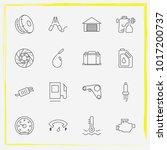 auto parts line icon set brake... | Shutterstock .eps vector #1017200737