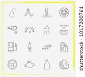auto parts line icon set... | Shutterstock .eps vector #1017200761