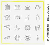 auto parts line icon set airbag ... | Shutterstock .eps vector #1017201277