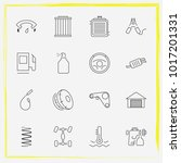 auto parts line icon set tail... | Shutterstock .eps vector #1017201331
