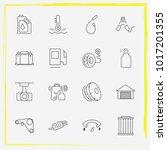 auto parts line icon set car... | Shutterstock .eps vector #1017201355