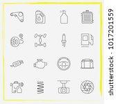 auto parts line icon set car... | Shutterstock .eps vector #1017201559
