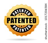 patented gold vector seal... | Shutterstock .eps vector #1017206584