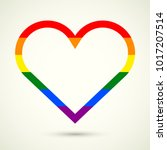 heart in rainbow colors with... | Shutterstock .eps vector #1017207514