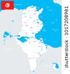 tunisia map and flag   high... | Shutterstock .eps vector #1017208981