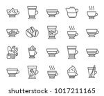 coffee types and tea icons. set ... | Shutterstock .eps vector #1017211165