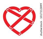 shackled riveted heart  | Shutterstock .eps vector #1017212899