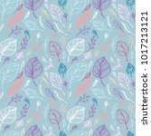 seamless pattern from hand draw ... | Shutterstock .eps vector #1017213121