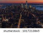 new york city skyline aerial... | Shutterstock . vector #1017213865