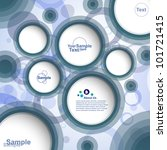 abstract design bubble banner ... | Shutterstock .eps vector #101721415