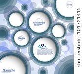 abstract design bubble banner ... | Shutterstock .eps vector #101721415