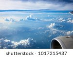 clouds and sky as seen through... | Shutterstock . vector #1017215437