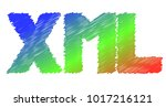 a colorful icon for xml ... | Shutterstock .eps vector #1017216121