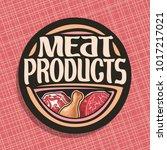vector logo for meat  chop... | Shutterstock .eps vector #1017217021