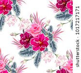 seamless pattern with beautiful ... | Shutterstock .eps vector #1017217171