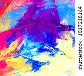 multicolor beautiful futuristic ... | Shutterstock . vector #1017218164