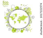 environmentally friendly world. ... | Shutterstock .eps vector #1017222574