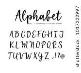 hand drawn vector alphabet ...   Shutterstock .eps vector #1017222997