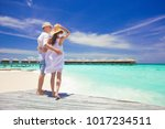 happy young couple having fun... | Shutterstock . vector #1017234511