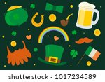 saint patrick's day. set... | Shutterstock .eps vector #1017234589