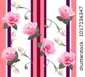 seamless pattern with cute pink ... | Shutterstock .eps vector #1017236347