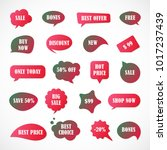vector stickers  price tag ... | Shutterstock .eps vector #1017237439
