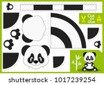 cut and glue the paper panda.... | Shutterstock .eps vector #1017239254