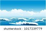 stylized seamless horizontal... | Shutterstock .eps vector #1017239779