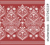 beautiful white and red floral... | Shutterstock .eps vector #1017242119