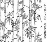 vector seamless bamboo forest... | Shutterstock .eps vector #1017246844