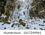 the waterfall which froze ... | Shutterstock . vector #1017249961